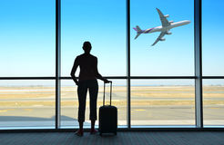 https://www.dreamstime.com/royalty-free-stock-photography-futuristic-airport-airplane-window-image37093377