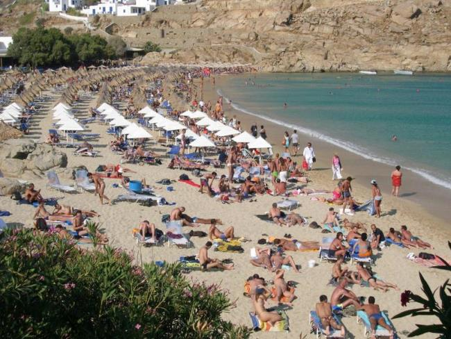 Paradise Beach: A Nude and Topless Beach in Mykonos, Greece