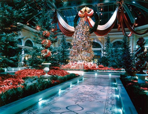 Des beaux h tels o passer les f tes aux tats unis for When does las vegas decorate for christmas
